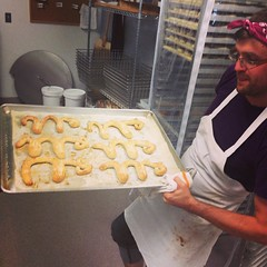 We made some Art Hop pretzels!