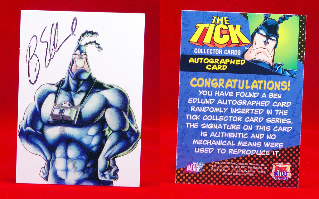 1997 The Tick Collector Cards Autographed Card!