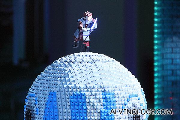 Guy on a globe