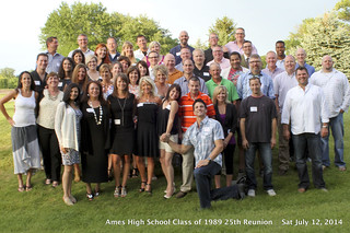 2014-07-12 1989 25 year reunion AHS group Class Photo #AmesHighClassof1989 #AHSClassPhoto