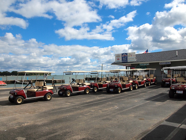 Golf carts on Kelleys Island