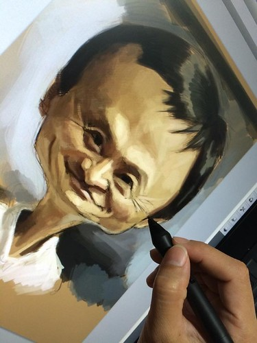 digital caricature of Jack Ma - 2