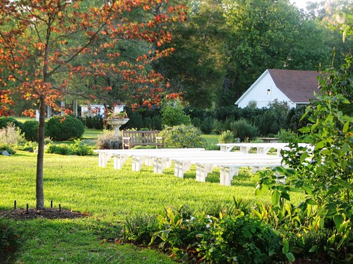 Wedding set-up, Sotterley Plantation Gardens, Hollywood, MD
