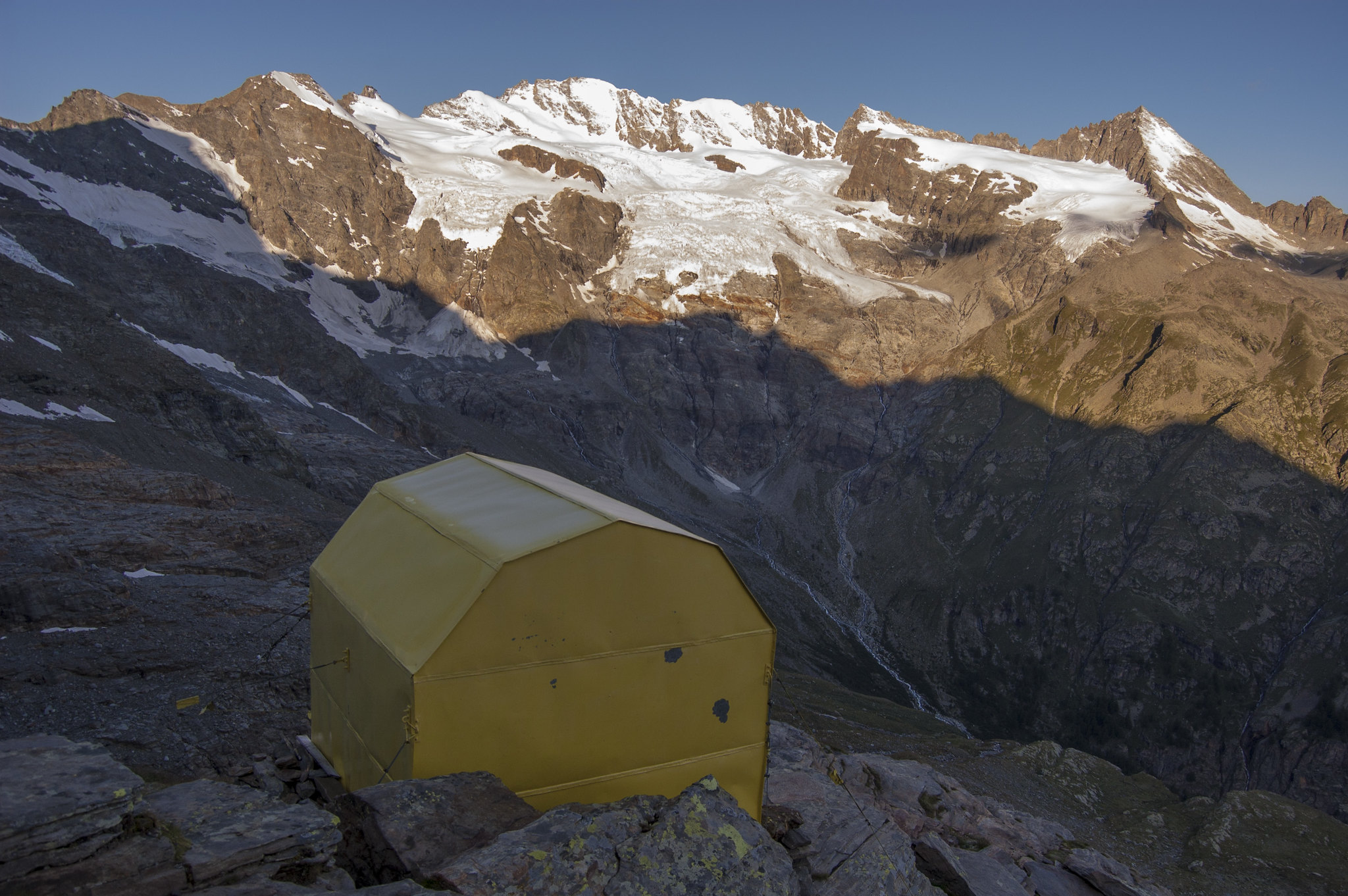 Bivacco Money, view to Gran Paradiso