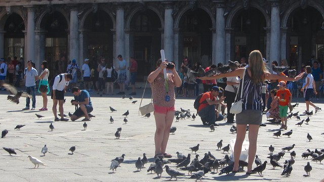 Tourists Doing Tourist Things In San Marco