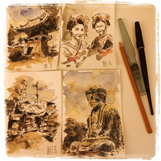 Produkzioa #japon #pfj #carbon #platinum #watercolor