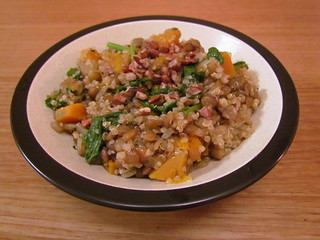 Quinoa and Lentils with Butternut Squash and Rapini