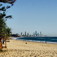 A superb #goldcoast morning #beachlife #cycling looking to #surfersparadise