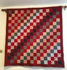 We hung Grant's grandma's quilt this weekend