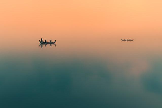 Dawn. Amarapura, Myanmar