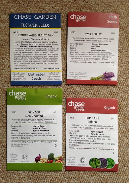 New seed arrivals from the Organic Gardening Catalogue