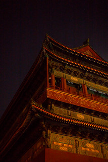 Image of Drum Tower. 鼓楼 asia china beijing gulou leica m 240 summilux 50 drum tower night available light travel street