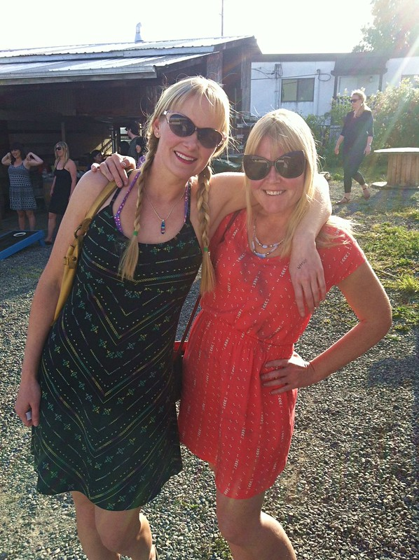 two blondes in the sun