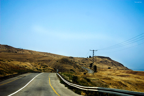 life road travel blue sea sky mountains nature lines car landscape israel desert westbank horizon roadtrip wanderlust adventure deadsea judaeandesert