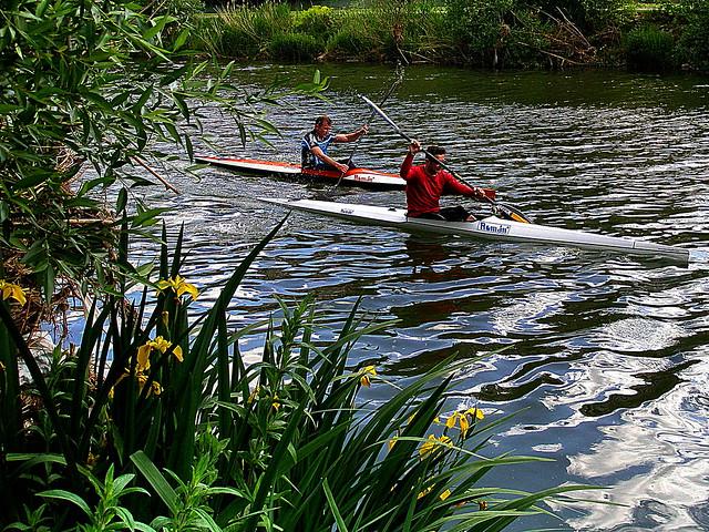 LEÓN.- Ayer en el río Bernesga. /  Yesterday on the river Bernesga.