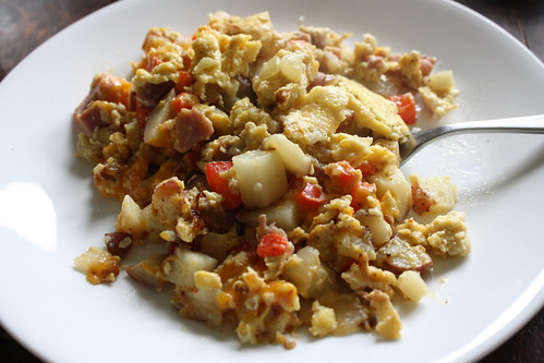 Scrambled Eggs with New Potatoes