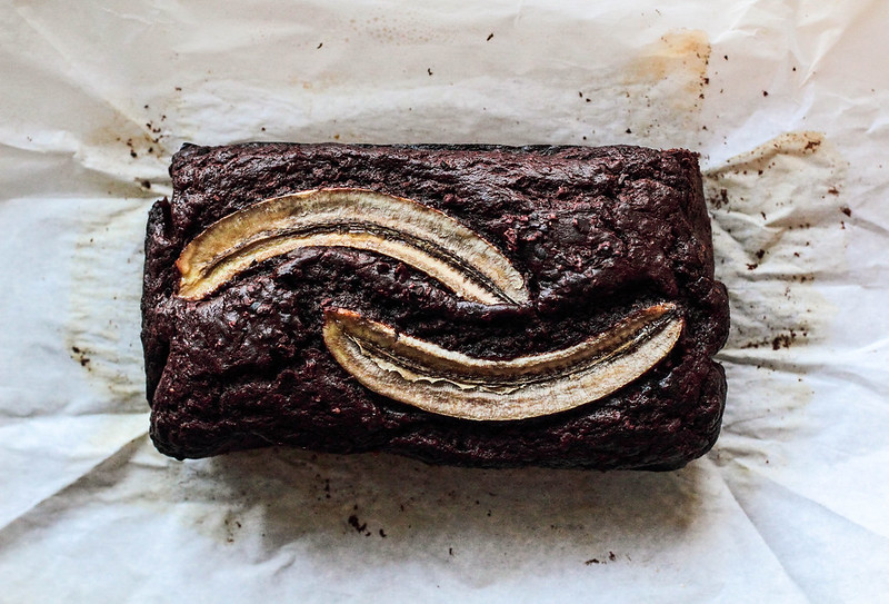 Chocolate Cacao Nib Banana Bread