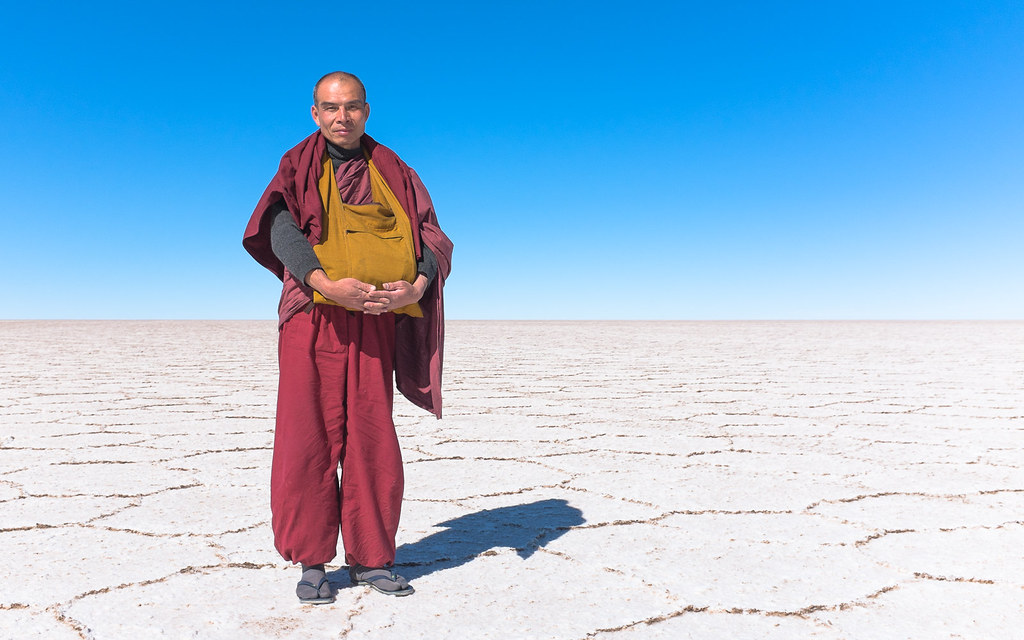A Taiwanese Monk at the Salar of Uyuni