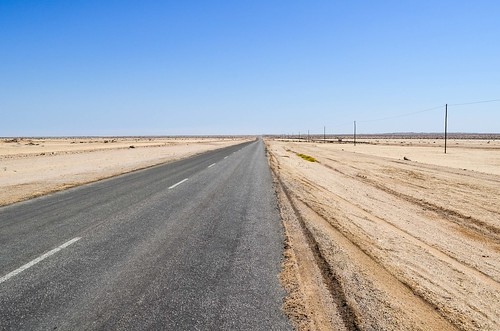 C28 desert road, tarred section