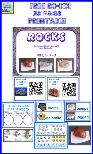 Rocks 53-Page Printable (Image from Wise Owl Factory)