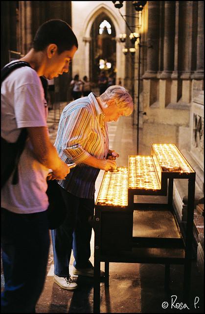 Prague - Candles St Vitus Cathedral