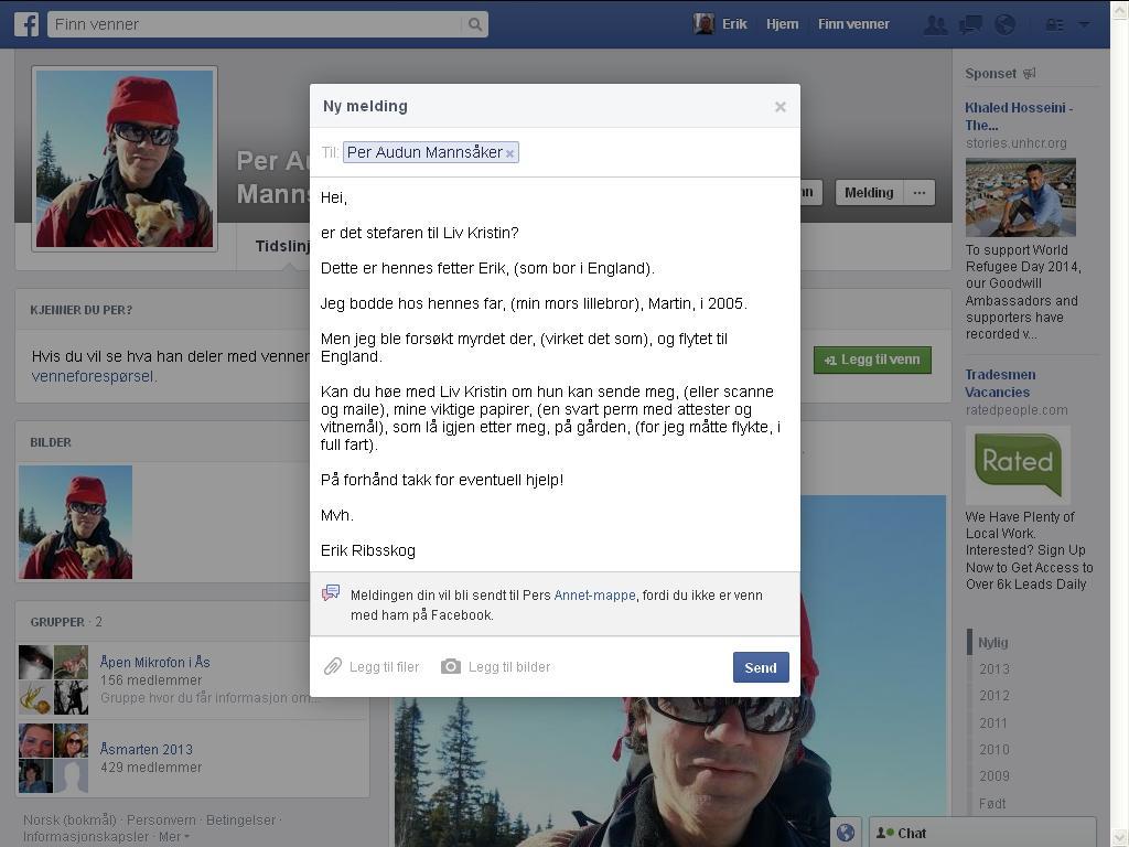 facebook liv kristin stefar