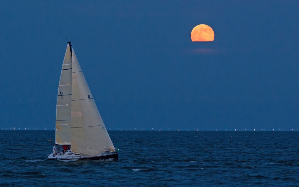 Supermoon, Hampton Roads, Virginia