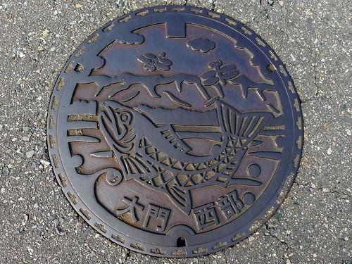 Daimon Toyama, manhole cover 3 (富山県大門町のマンホール3)