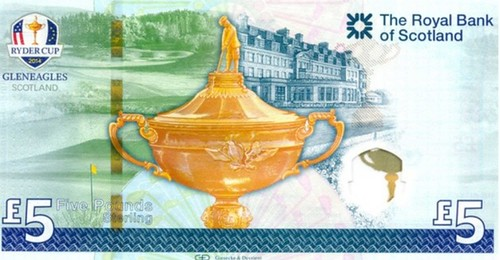Ryder Cup commemorative banknote