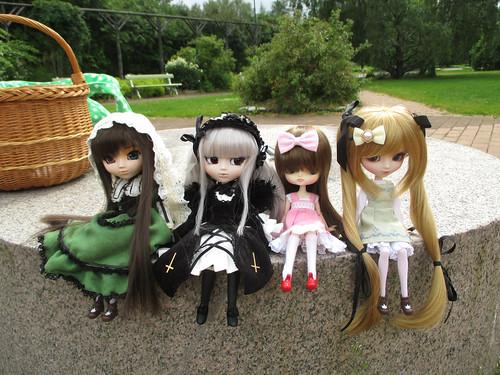 Suiseiseki, Suigintou, Himeko (dal Hina Ichigo) & Shinku