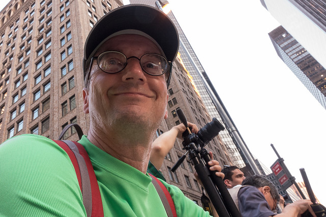 Gary at Manhattanhenge