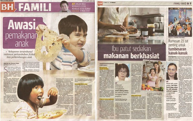 Hidden Hunger & Horlicks Chocolate - Berita Harian-Famili_23 May 14_Pg 6-7