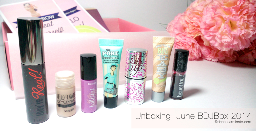 Unboxing June BDJBox 2014 an exclusive benefit cosmetics
