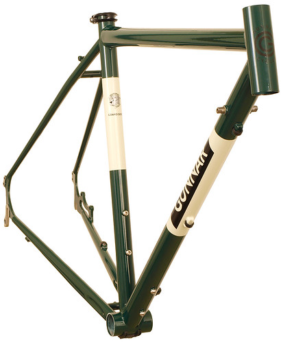 <p>Gunnar Grand Disc in British Racing Green with Panda Panels - perfect for touring with the wet braking benefits of disc brakes, which also reduce wear and tear on rims.  Comes with 3 sets of water bottle bosses plus double rear eyelets.</p>