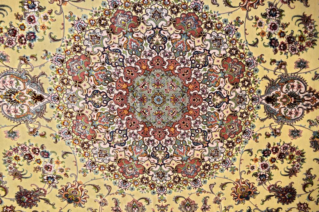 10x13 Persian Rug Tabriz Qareh Baghi 60 Raj