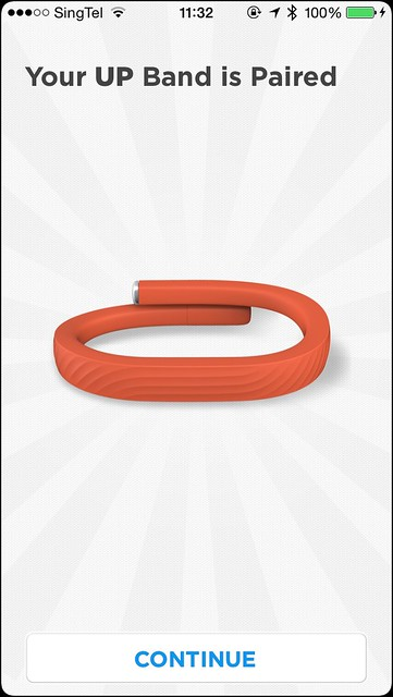 Jawbone UP iOS App - Setup Done