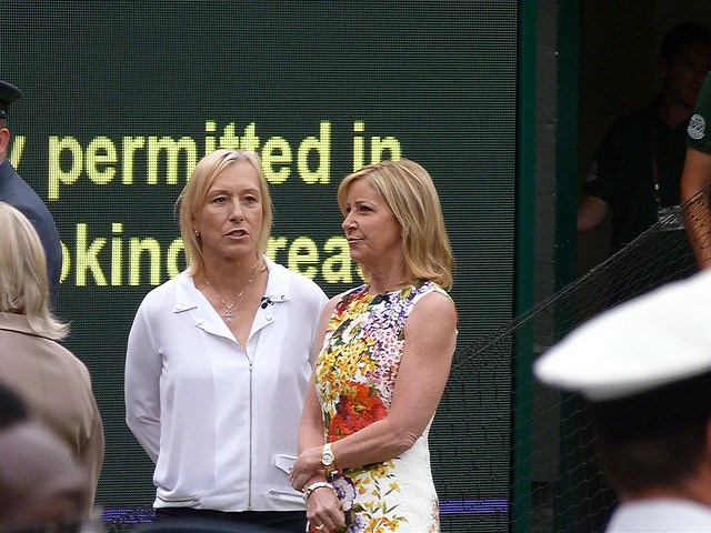 Martina Navratilova & Chris Evert
