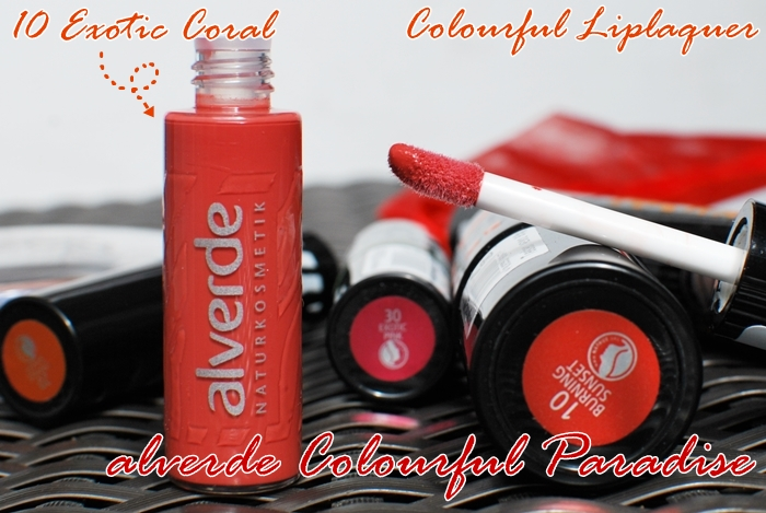 alverde colourful liplaquer 10 exotic coral