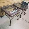 Marble Glass End Tables $95.00 each. #marble#furniture#lamodalisa