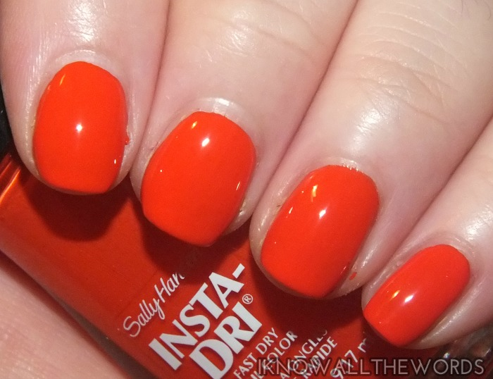 sally hansen insta-dri moroccan spice markey collection- poppin' paprika  (1)