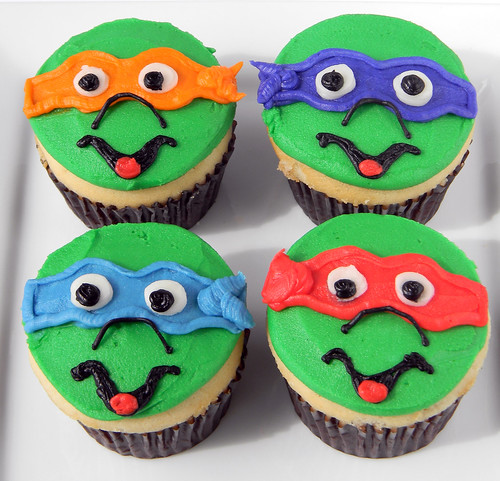 Teenage Mutant Ninja Turtle cupcakes by Cupcake Chic