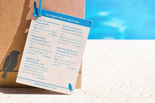 Fairy Box, Fairy Box August 2014, tierversuchsfreie Beautybox, Box ohne Tierversuche
