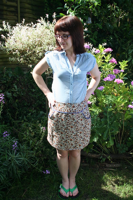 Dolores Pocket Skirt in vintage fabric