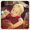 This boy is on his 3rd bowl of spaghetti! #cantgetenough #growinboy #passtheparmesan