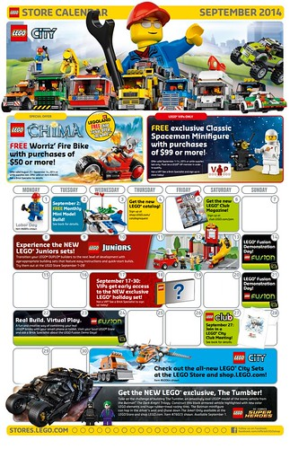 September 2014 LEGO Store Calendar 2