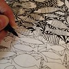 Still working on another #fish #drawing, lots still to do! But enjoying the process! #spoonchallenge #spoonflower #wip #draw #fish #abstract #pen #ink #sketch #illustration #sketching #doodle #doodling #lines #shapes