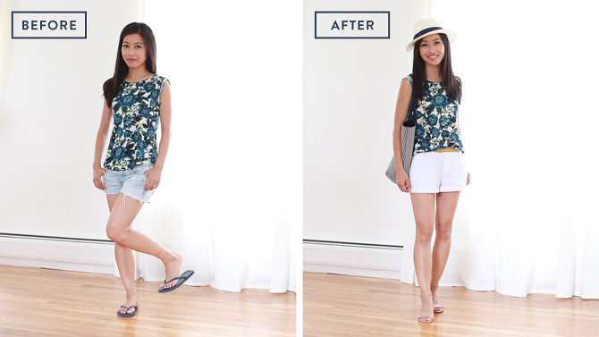 beforeafter_floral_shorts