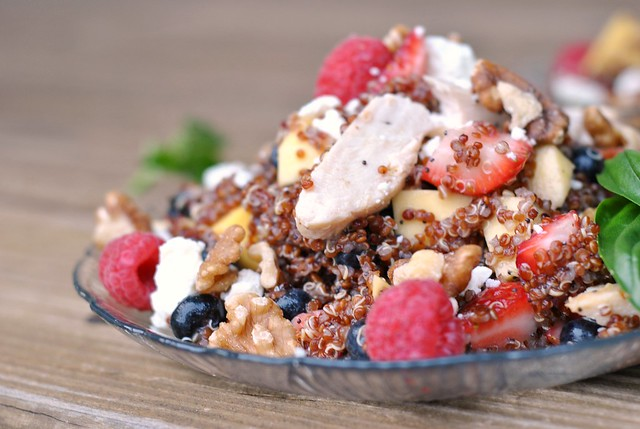 Fruit, Chicken, and Quinoa Salad 4