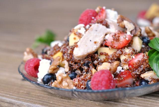 Fruit, Chicken, and Quinoa Salad 4