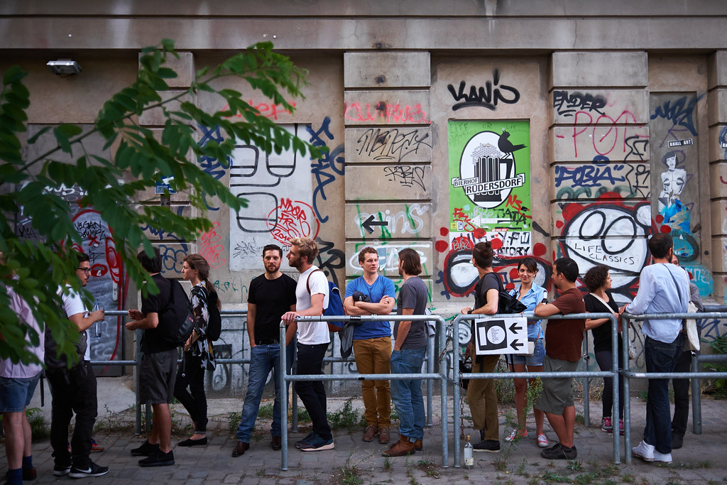 The queue for 10 at Berghain